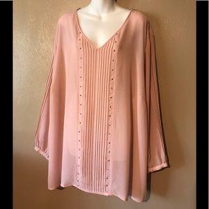 Catherine's 4X pink top with stud design